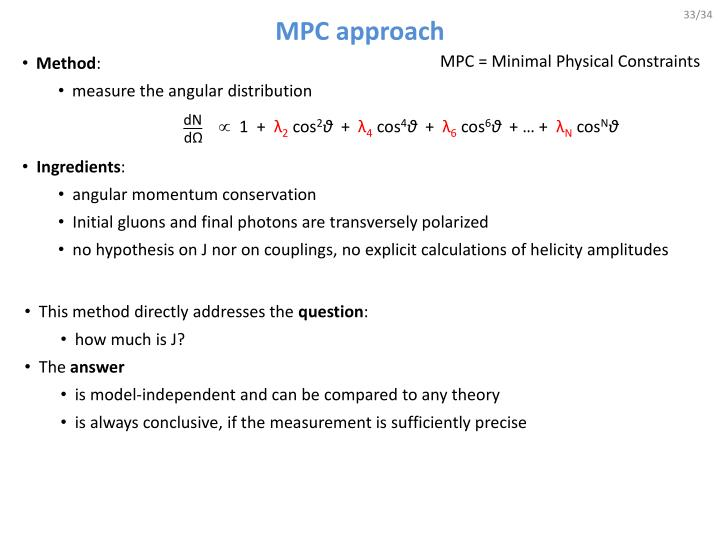 MPC approach