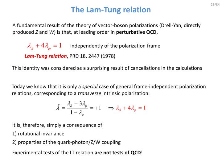 The Lam-Tung relation