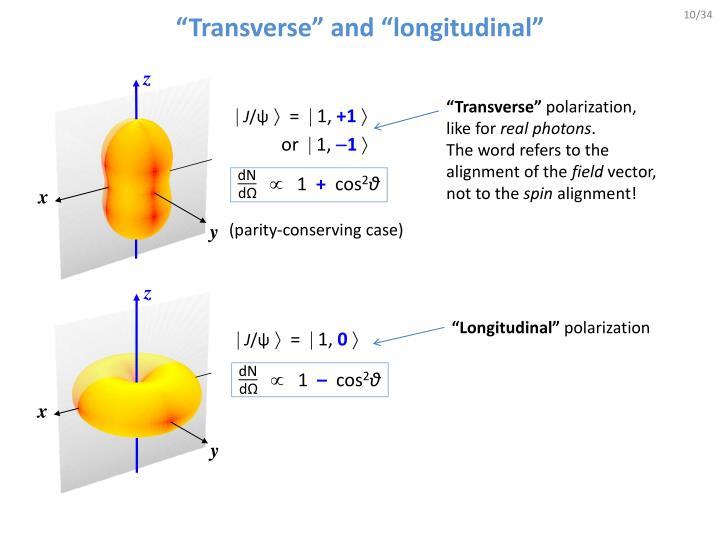"""Transverse"" and ""longitudinal"""