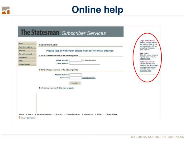 Online help