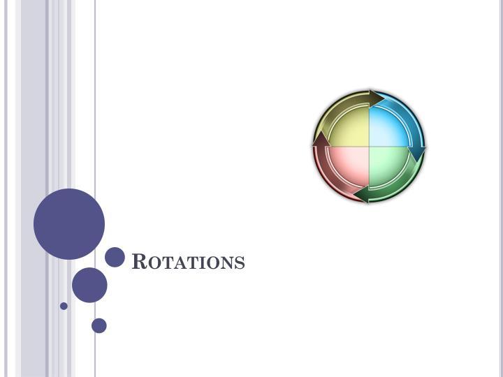 rotations n.