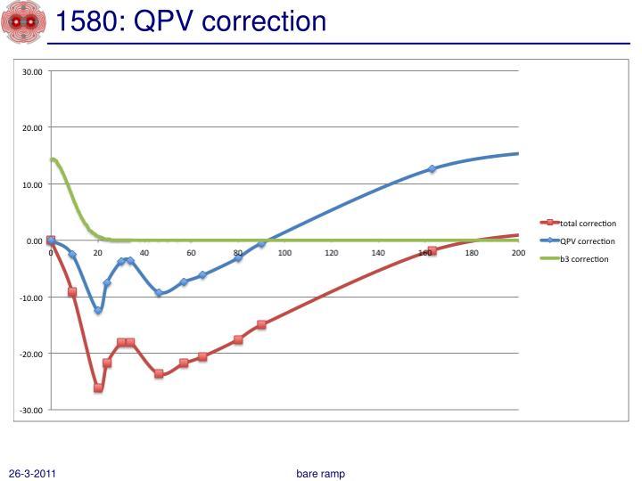 1580: QPV correction