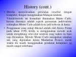 history cont