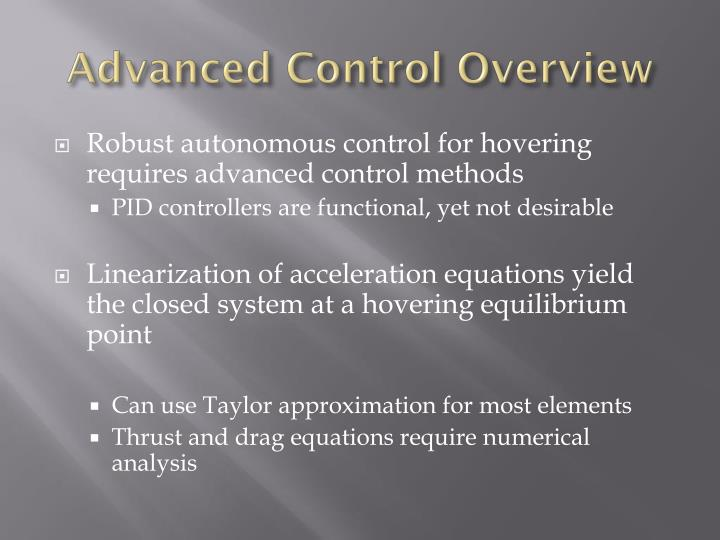 Advanced Control Overview