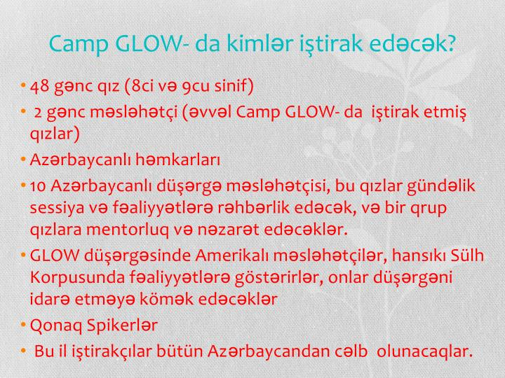 Camp glow da kiml r i tirak ed c k