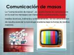 comunicaci n de masas