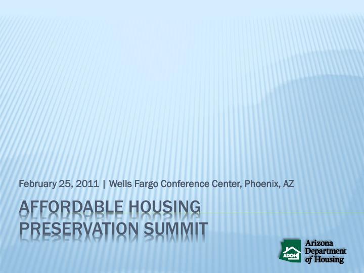 February 25 2011 wells fargo conference center phoenix az