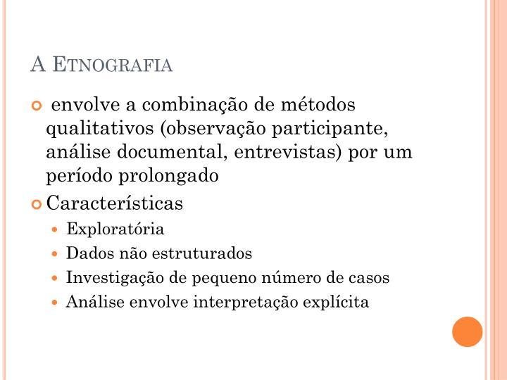 A etnografia