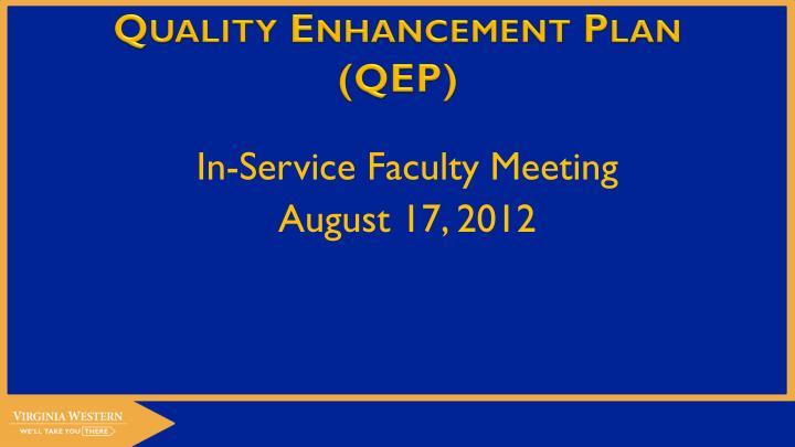 quality enhancement plan qep n.