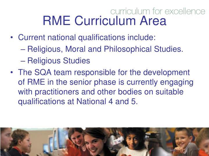 RME Curriculum Area