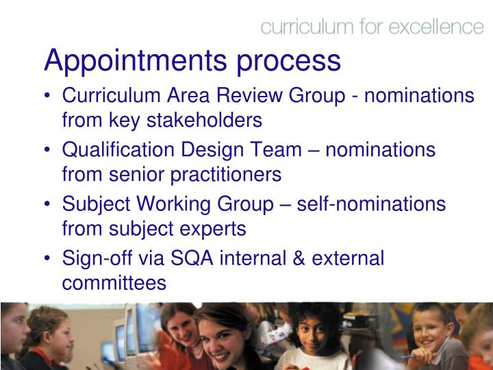 Appointments process