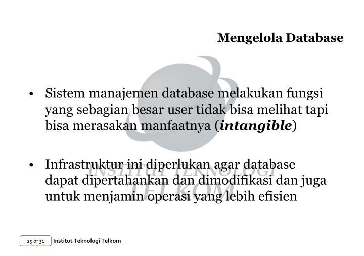 Mengelola Database