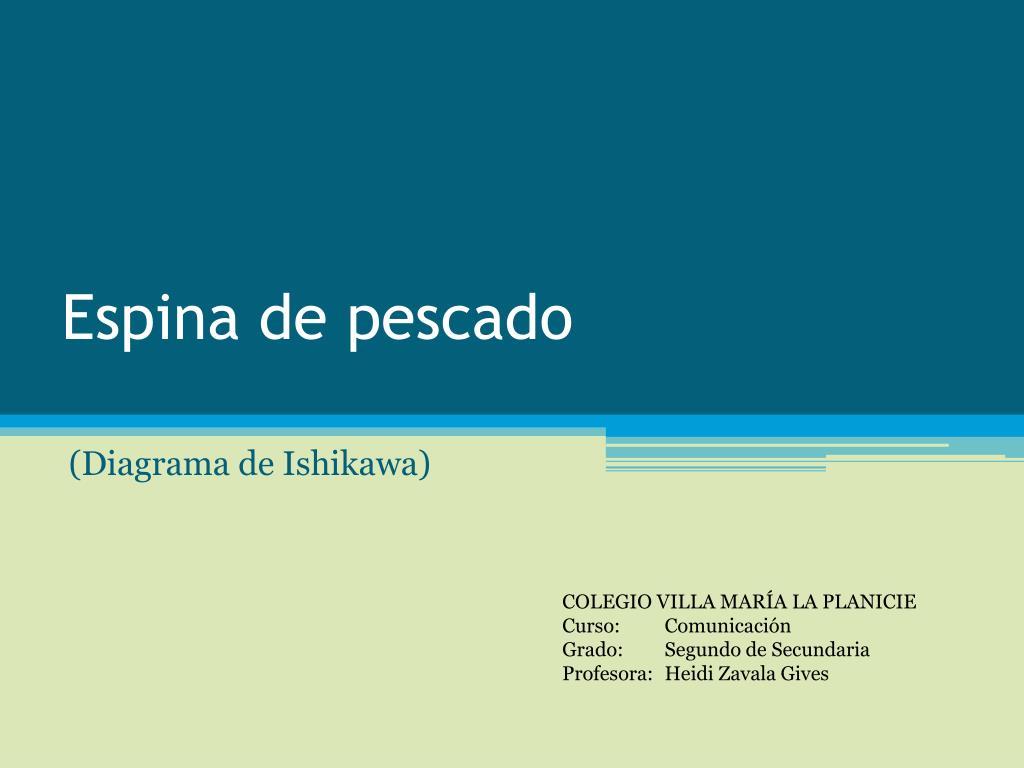 PPT - Espina de pescado PowerPoint Presentation - ID:3459061