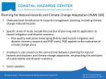 planning for natural hazards and climate change adaptation plan 590