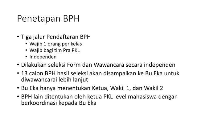Penetapan BPH