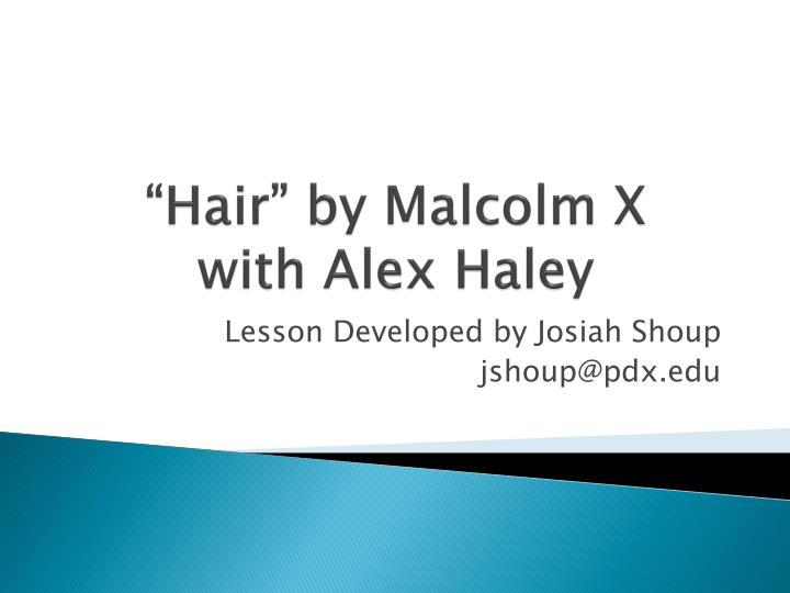 hair by malcolm x with alex haley n.