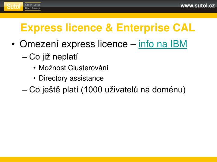 Express licence enterprise cal
