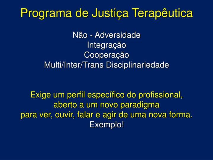 Programa de Justiça Terapêutica