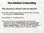 non medical underwriting