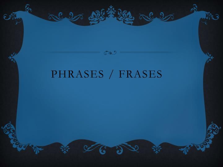 phrases frases n.