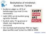 beskyttelse af mindretal kurderne i tyrkiet