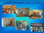 wietlica sale lekcyjne korytarze azienki