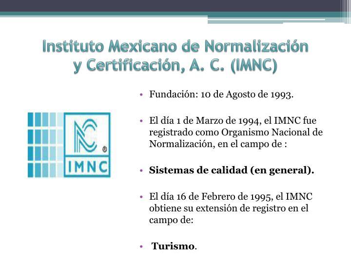 Instituto Mexicano de Normalización