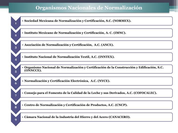 Organismos nacionales de normalizaci n1