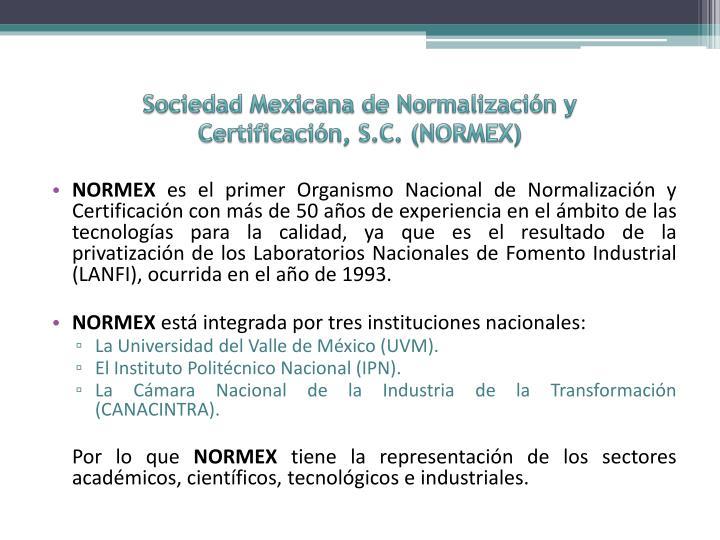 Sociedad Mexicana de Normalización y