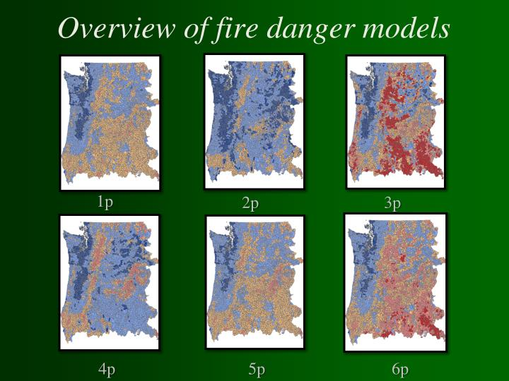 Overview of fire danger models