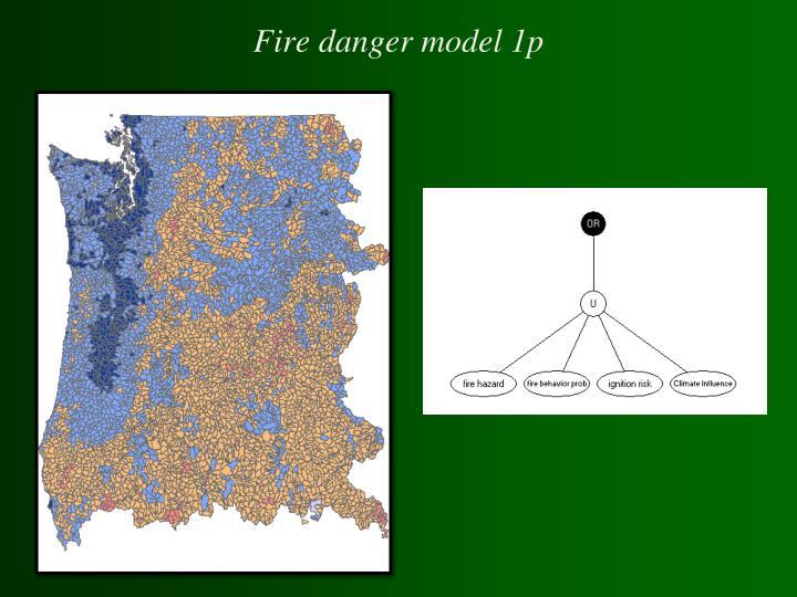 Fire danger model 1p