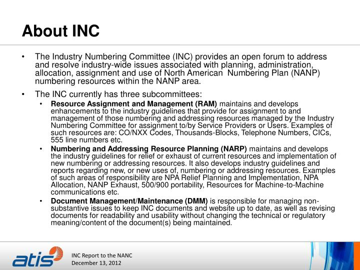 About inc