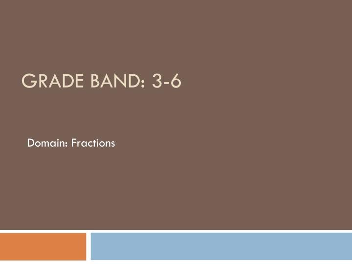 Grade band 3 6