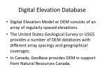 digital elevation database