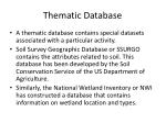 thematic database
