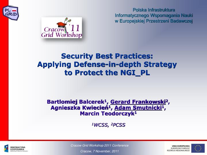 Ppt Security Best Practices Applying Defense In Depth Strategy