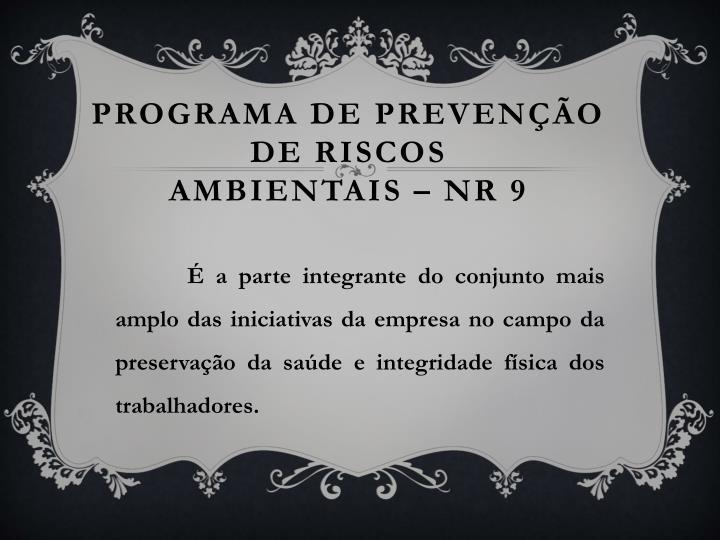 Programa de preven o de riscos ambientais nr 9
