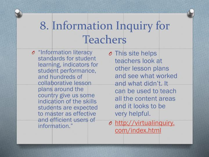 8. Information Inquiry for Teachers