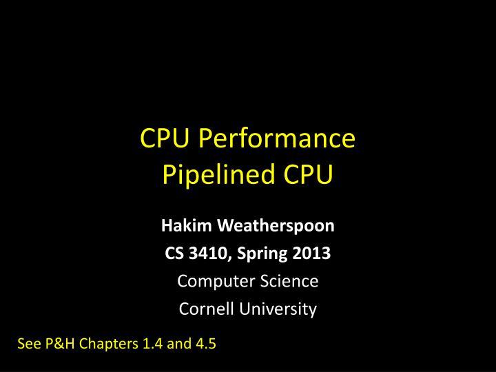 cpu performance pipelined cpu n.
