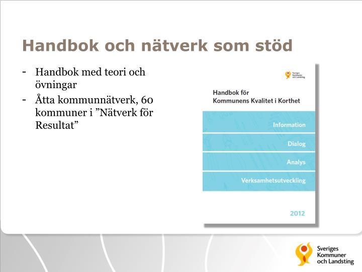 Handbok och nätverk som stöd