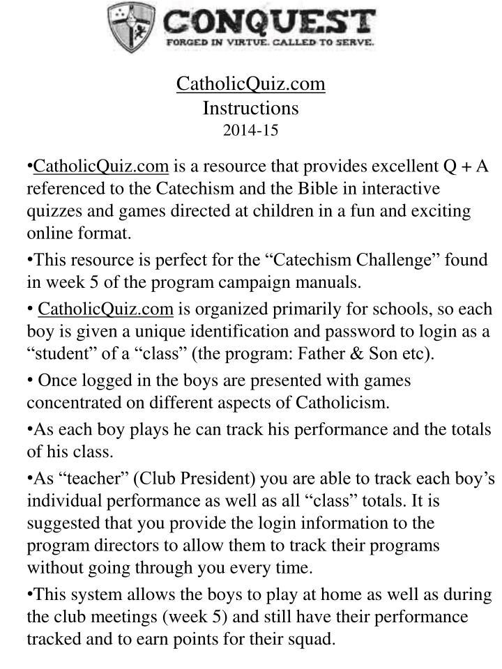 CatholicQuiz.com