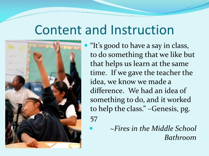 Content and instruction