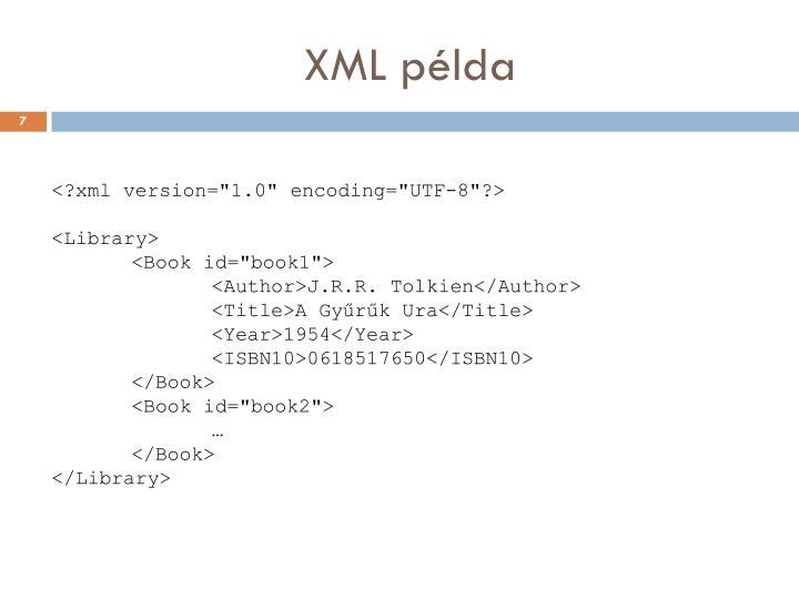XML példa