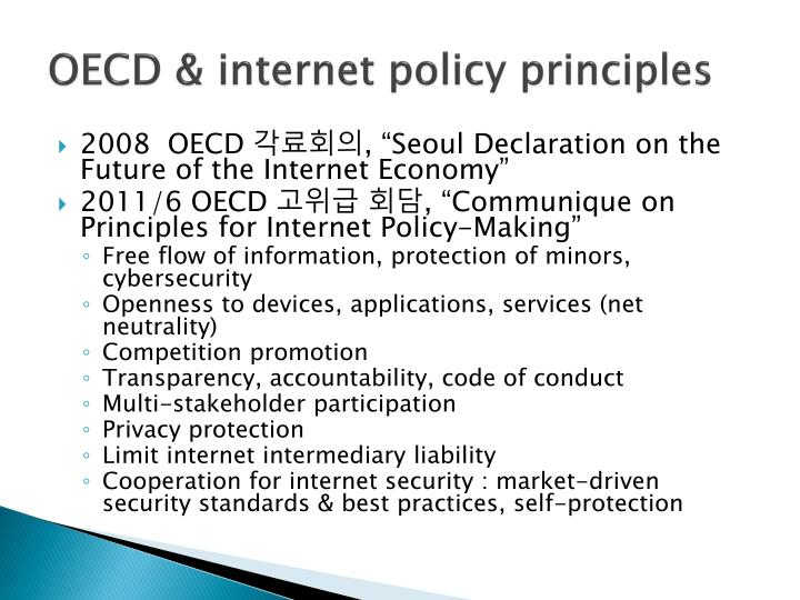 OECD & internet policy principles