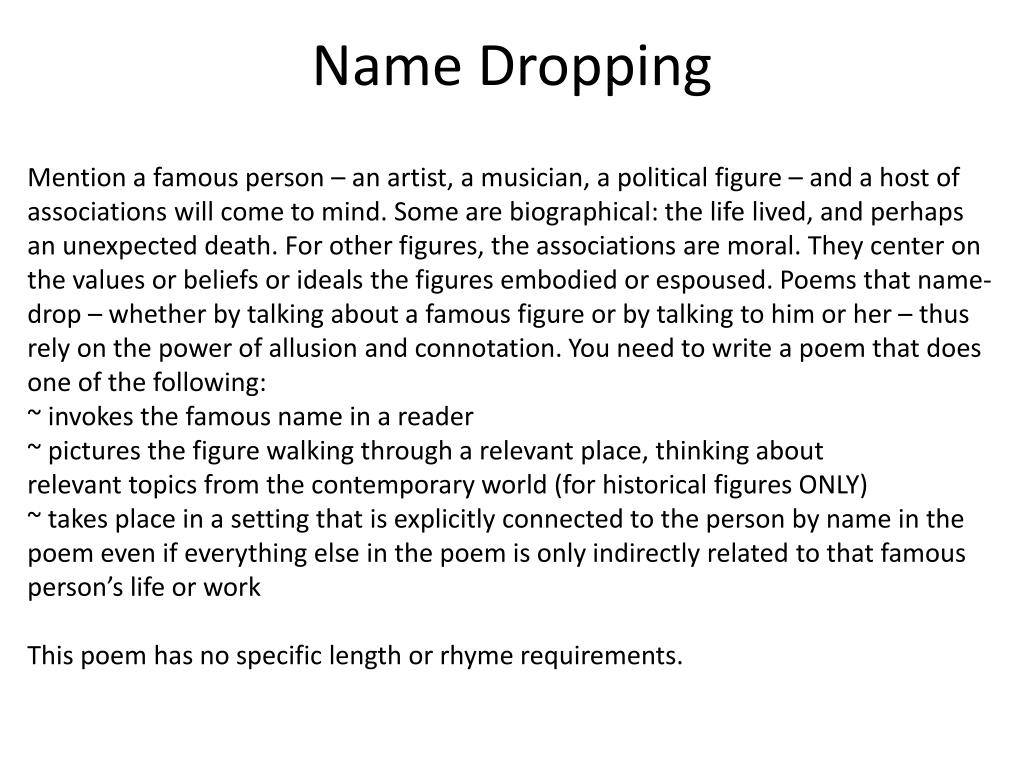 PPT - POEM PROMPTS AND POETIC DEVICES PowerPoint Presentation - ID