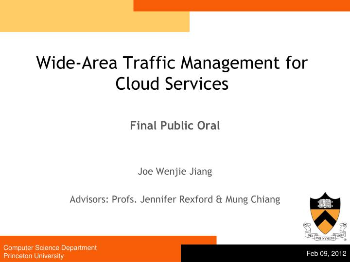 wide area traffic management for cloud services n.