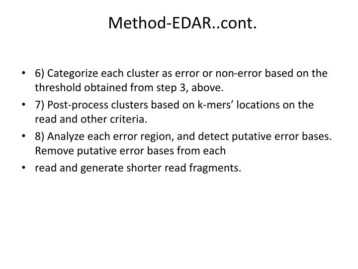 Method-EDAR..cont.