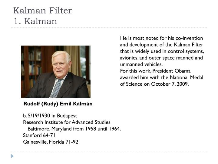 Kalman filter 1 kalman