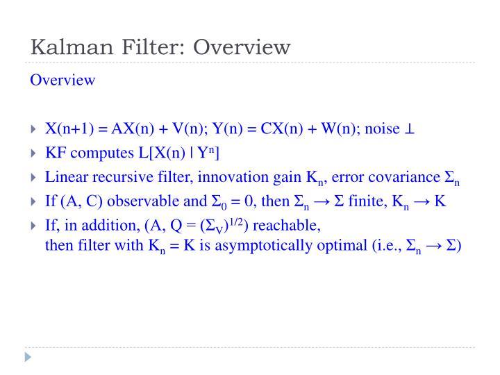 Kalman filter overview
