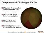 computational challenges nicam